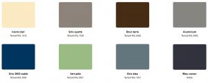 Portail couleur Gamme sélection